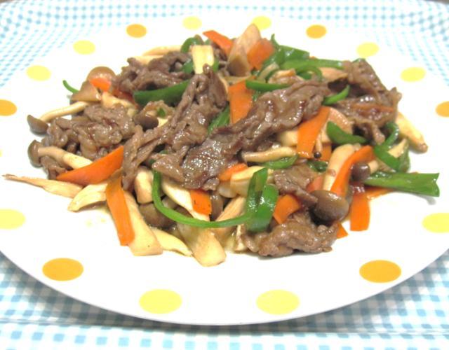 牛肉と野菜の中華風炒め
