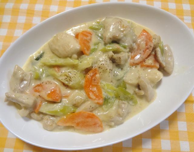 鶏モモ肉のクリーム煮