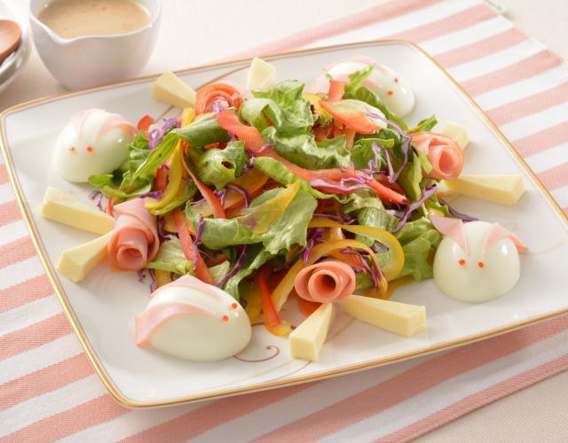 卵のうさぎのサラダ