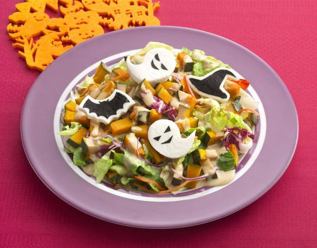 ハロウィンおばけのサラダ