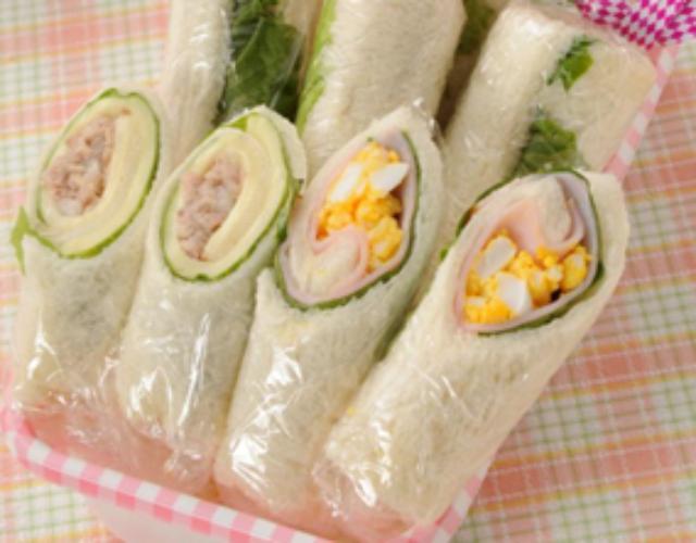 くるくるサンド(ツナ&チーズ)