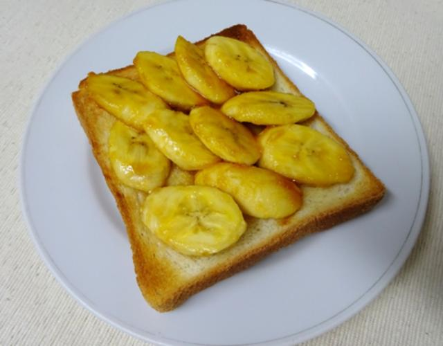 バナナキャラメルトースト