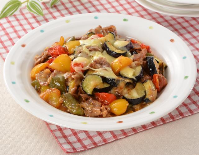 豚肉と野菜のチーズとろーりソース炒め