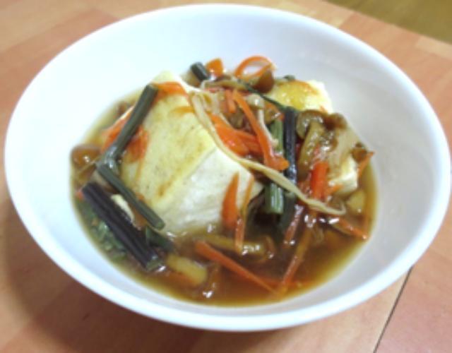 豆腐の山菜あんかけ