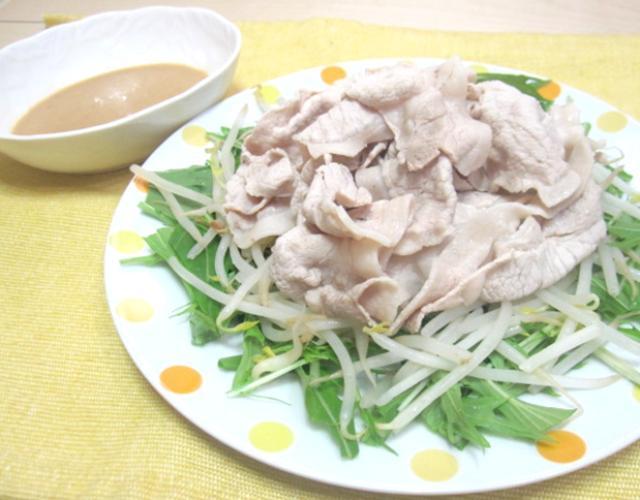 豚しゃぶのごまドレポン酢サラダ
