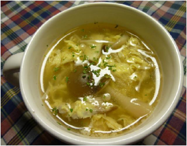 きのこ入りスープ