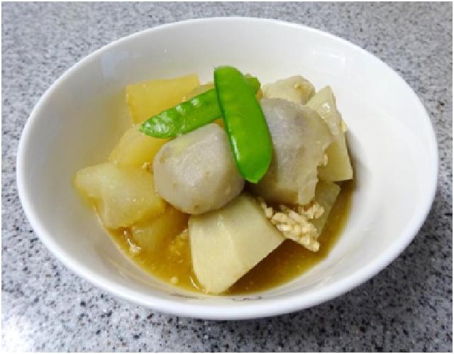 土小芋と大根の鶏そぼろあんかけ