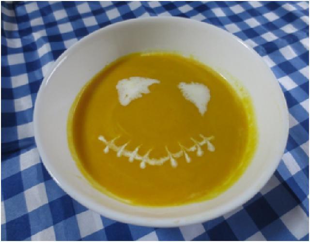 ハロウィンかぼちゃのスープ