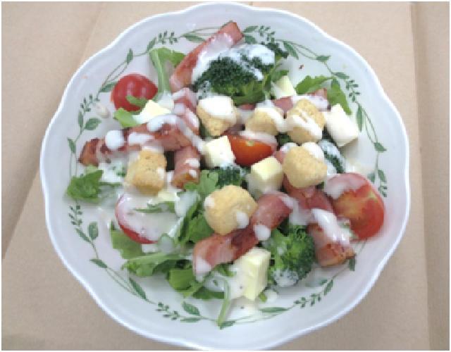 菊菜のシーザーサラダ