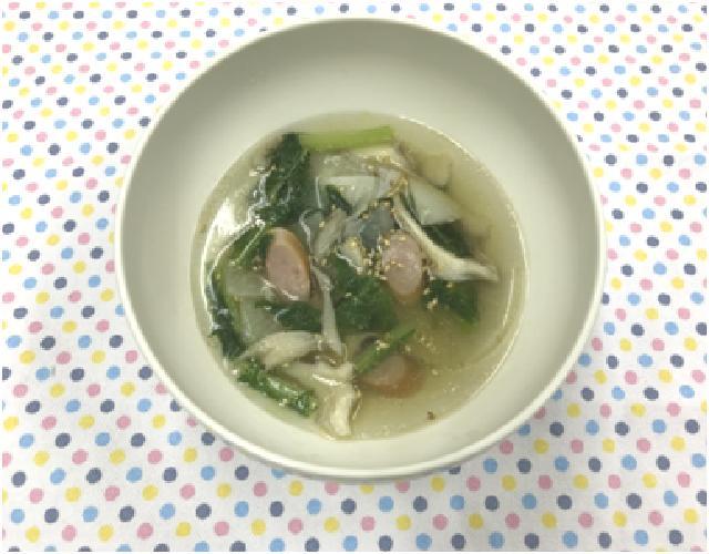 かぶとウインナーの中華スープ