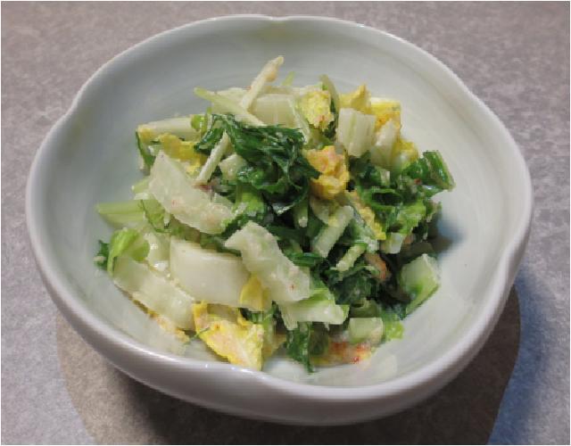 白菜の明太マヨサラダ