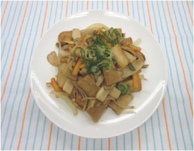 高野豆腐ときのこの炒めもの