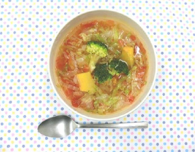 レンジで野菜スープ