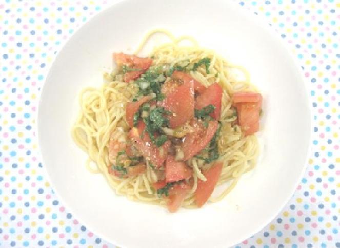 トマトの和風冷製パスタ
