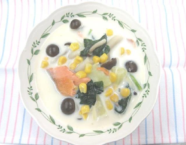 焼鮭のしょうがミルクスープ