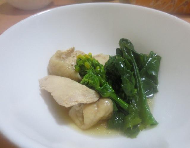 菜の花と鶏むね肉のサッと煮