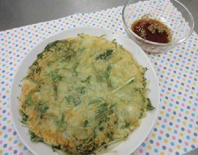 水菜と大葉のチヂミ