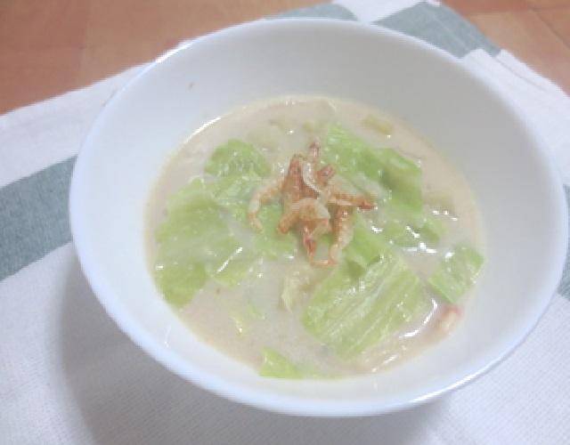 桜海老のミルクスープ
