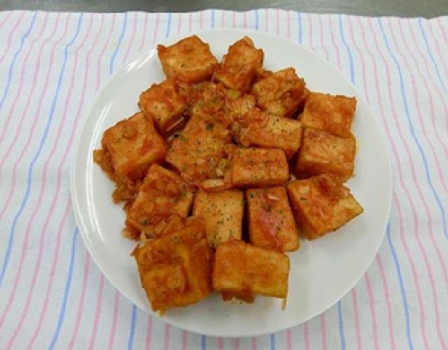 豆腐のエビチリ風