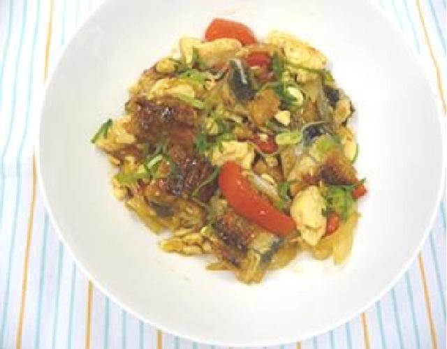 うなぎと豆腐の甘辛炒め煮