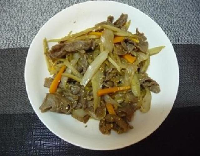 ごぼうと牛肉のうま煮