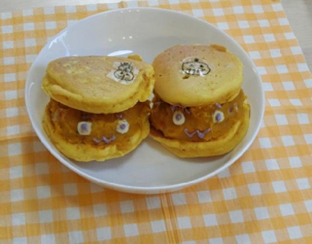 かぼちゃのおばけホットケーキ