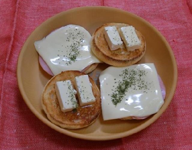 チーズのせマフィン
