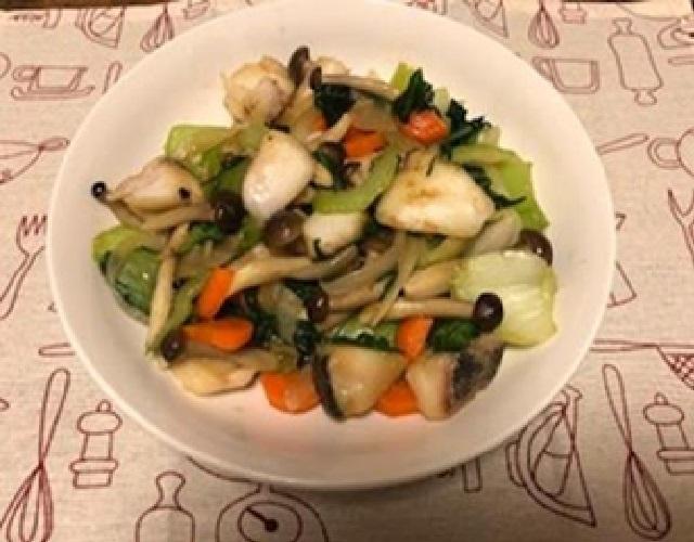 たらと野菜の中華炒め