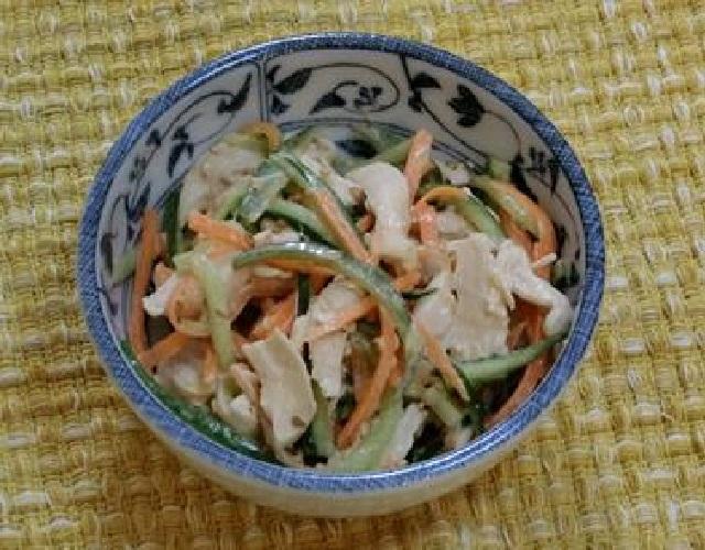 きゅうりのごま味噌マヨ和え