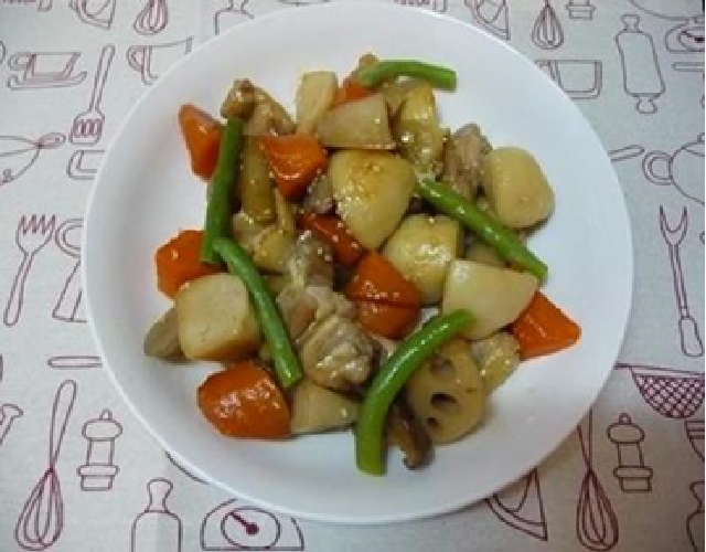冷凍野菜で筑前煮