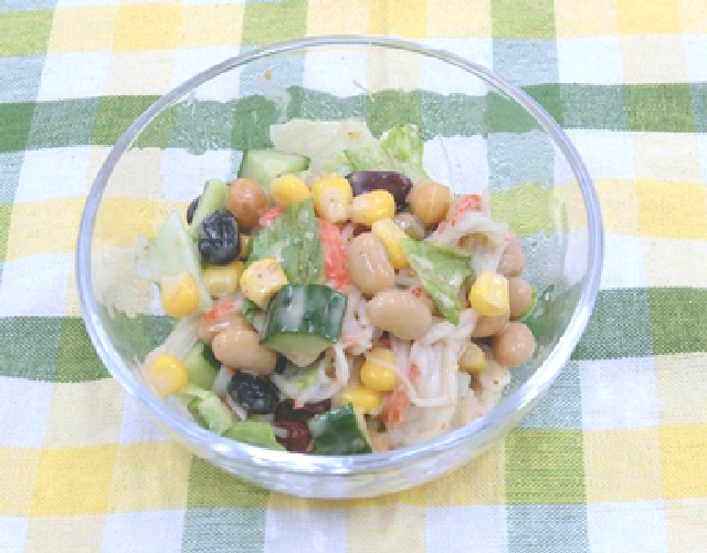 蒸し豆のサラダ