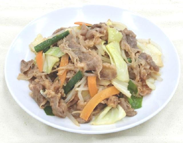 牛バラ肉の野菜炒め