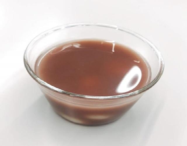 麹甘酒の冷やし白玉おしるこ