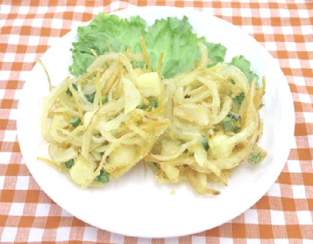 豆腐と野菜のかき揚げ