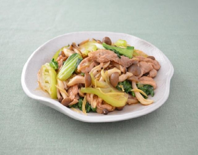 豚肉とチンゲン菜のとろみ炒め