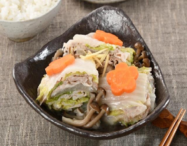 白菜と豚肉の重ね蒸し