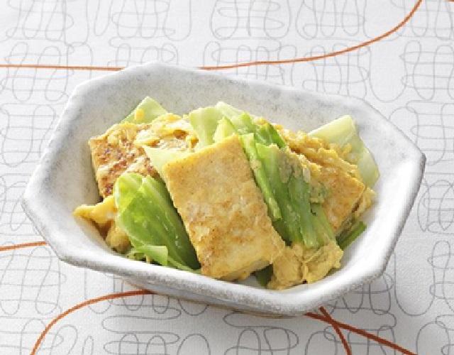 春キャベツと豆腐のチャンプルー