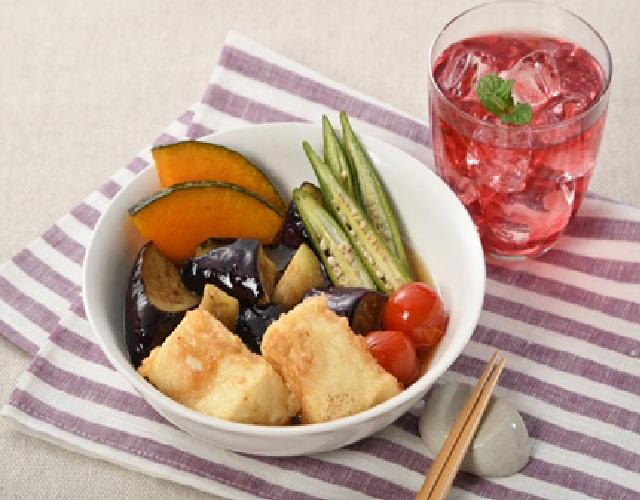 夏野菜と豆腐の揚げ浸し
