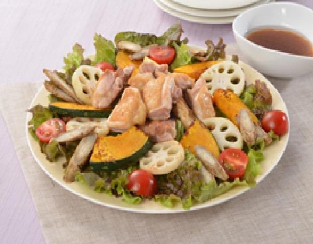 チキンと焼き野菜のサラダ