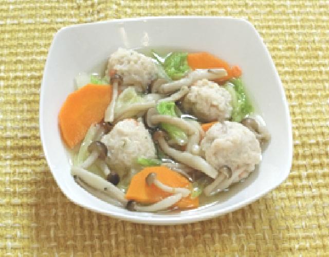 つみれと白菜の生姜煮