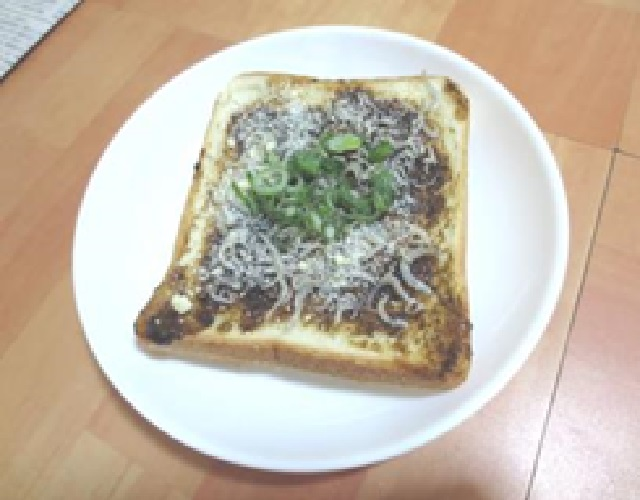 海苔の佃煮トースト